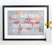 World Map Print, Travel Poster, Map Quote, Wanderlust Poster, World Map Poster, A3, Love Quote, Wedding Gift, Map of World, Life and Lemons