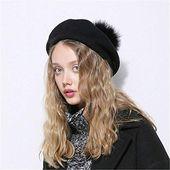 Genießen Sie exklusiv für XJDMG Strickmütze Beaniemütze Wollmütze Xthree Winter Wool Beret Hat Ostric online   – Winter Womens Accessories