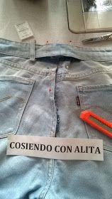 Cosiendo Con Alita Como Reducir La Cintura Del Pantalon Jeans Pantalones Jeans Pantalones Como Reducir Cintura