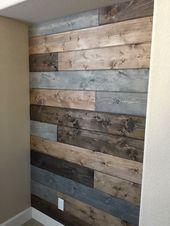 Shiplap-Wand mit drei Flecken, siehe mehr unter FB…