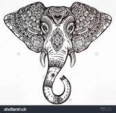 Coloring Tattoo Designs Beautiful Elefante Mandala — Psicologiaymediacion  – Example Tattoo Drawing