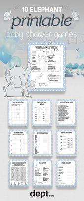 Babypartymotive für Mädchen Elefanten Jungen 63 Ideen   – Baby Shower Ideas