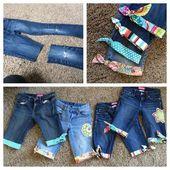 Wie man aus alten Jeans süße Shorts macht