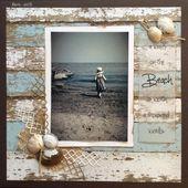 Ein Spaziergang am Strand sagt mehr als tausend Worte – Scrapbook.com # scrapbooking101 # …