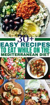 30+ günstige und einfache mediterrane Diätrezepte