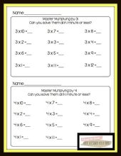 Printables Math Masters Worksheets math masters multiplication fact fluency worksheets free pages