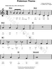 Print and obtain Pokémon Theme sheet music from Pokémon. Sheet music prepare…