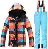 New HOTIAN Ski Snowboard Jacket Womens High Windproof Technology Colorful Snow Jacket Pants Set online – Newofferclothing