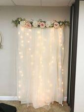 DIY beleuchteter Tulle-Hintergrund