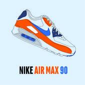 Nike Air Max 90 Essential bleu et orange (avec images