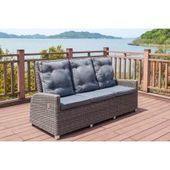 Polyrattan Sofas B Ware Outflexx Dining 3 Sitzer Sofa Grau Polyrattan 210x8 Un Patio Furniture Cushions Outdoor Furniture Sets Patio Furniture Sets