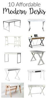 10 Affordable Modern Desks