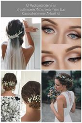 Bridal hairstyles tied with veils vintage wedding ideas #Bridal hairstyle …