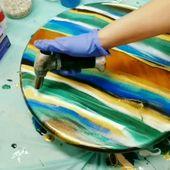 Primal Pigments in Resin on Wood