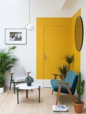 36 Accent Wall Ideas for New Creation in Your House, #accent #apartmentdecoratingyellow #Cre…