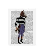 Fab Funky Horse Racing Jockey, Full Canvas Art – 36.5 x 48
