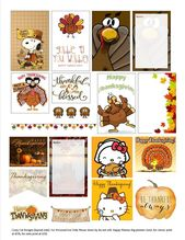 Free Printable Thanksgiving Planner Stickers