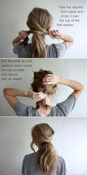 Beautiful simple hairstyles for long hair #Hairstyles #frisurenfürlangehaaredutt #frisurenla …