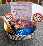 30 Minuten Wellness Geschenk zum 50. Geburtstag Frau