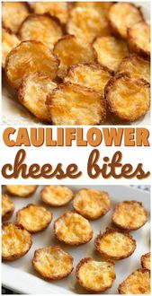 Diese Blumenkohl-Käse-Häppchen sind die einfachsten und schmackhaftesten Keto- oder …