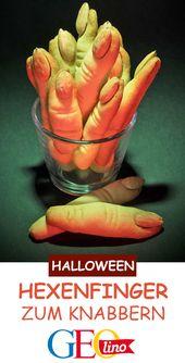 Witch finger from Keksteig: Halloween recipe