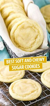 Best Soft and Chewy Sugar Cookies Use up those Thanksgiving leftovers to make th…