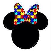 Pin By Mariela Ortiz On Autism Awareness Minnie Autism Awareness Colors Autism Puzzle Piece