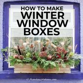 How To Make Winter Window Containers (The Simple Method) – Gardening @ From Home To House