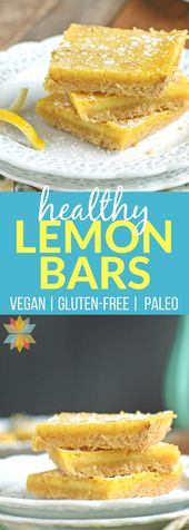 Luscious Lemon Bars (gluten free with low carb, paleo, AIP, and vegan options)
