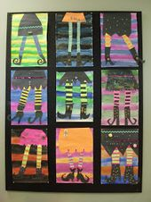 This was a brilliant enjoyable Halloween artwork venture I did with my Grade 4-6 combined electiv…