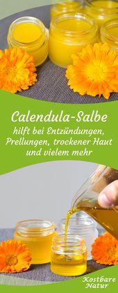 Calendula-Salbe – selbst gemachte Heilsalbe aus Ringelblumen