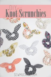 How to Make Knot Scrunchies – With Free Pattern + Video Tutorial