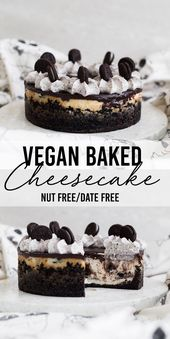 The Ultimate Baked Vegan Cheesecake (Nut-Free)