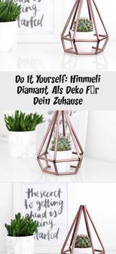 Do It Yourself Himmeli Diamant Als Deko Fur Dein Zuhause