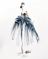 A fashion illustration by Katie Rogers