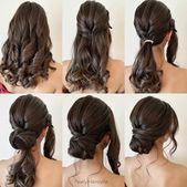 Gorgeous and Easy Hairstyles Tutorial For women with medium shoulder length to l…,  #diywed…