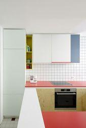 25 Mutige Farbe Block Küche Dekor Ideen