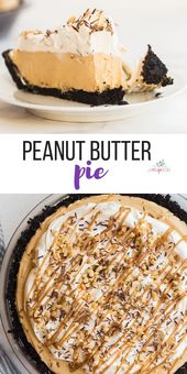 This Peanut Butter Pie is completely no bake and m…