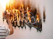 Creator Effect Fire Styles Graffiti Alphabet Font On Wall Best: Creator Effect F…   – Lettering