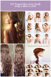 Adorable Ponytail Hairstyles; Classic Ponytail For Long Hair; Dutch Braids To A High Pony;High Wavy Pony For Shoulder Length Hair diy hairstyles long ...