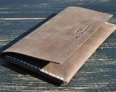 Phone Case Handmade Handmade leather phone case vintage phone wallet iPhone | Etsy