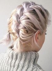 28 Braided Pigtail Braids for Short Hair You Will Love for 2019, Braided Pigtail..., #Braided...