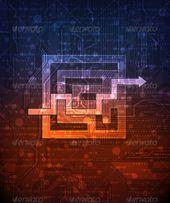 Conceptual Background  #GraphicRiver         modern technology theme conceptual background.