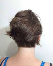 #Haarschnitte #Layered #Short #UnderCut #View Rückansicht der kurz geschichteten Haarschnitte – The UnderCut