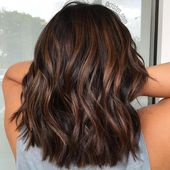 60 Hairstyles Featuring Dark Brown Hair with Highlights #darkbrownhair