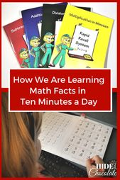 How We Are Learning Math Facts In Ten Minutes A Day A Rapid Recall Review Math Facts Learning Math How To Memorize Things