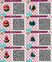 • Christmas red girls dress sweater scarf Clothes purse neutral jacket QR code ac3ds animal crossing new leaf new leaf acnl acjo glong bluegreen pin…