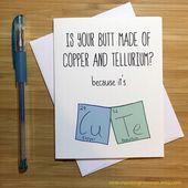 Geeky Liebe Karte, Chemie Humor, Nerd-Karte, Jahrestags-Karte, Liebe Grußkarten, ich liebe dich, jede Gelegenheit, romantische Karte, für Mann