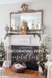 Photo of Weihnachtswohnzimmer: Wie man mit Holiday Metallics dekoriert