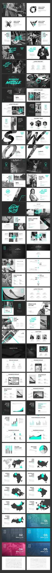 PORTFO PowerPoint Template ~ PowerPoint Templates ~ Creative Market #ppt #powerpoint #powerpoints #presentation #template